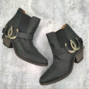 Free People Lady Luck Ankle Booties Size 8